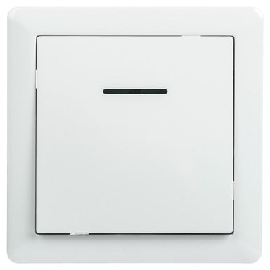 Przycisk dzwonek podświetlany SLIM  biały  LEXMAN