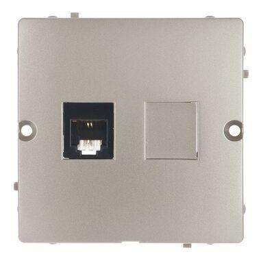 Gniazdo telefoniczne RJ11 pojedyncze BASIC srebrny KONTAKT SIMON