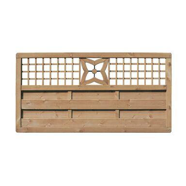 Płot szczelny z dekorem 180x90 cm drewniany MALVA WERTH-HOLZ