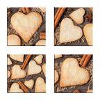 Podstawka szklana SWEET HEARTS 10 X 10 CM ALFA-CER