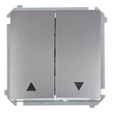 Włącznik żaluzjowy BASIC  inox, metalizowany  SIMON