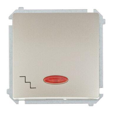 Włącznik schodowy Z PODŚWIETLENIEM BASIC  Srebrny  SIMON
