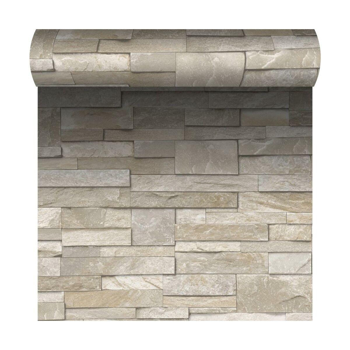 Tapeta Do Kuchni Stones Bezowa Imitacja Kamienia Winylowa Na Papierze Tapety W Atrakcyjnej Cenie W Sklepach Leroy Merlin