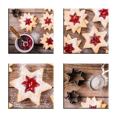Podstawka szklana CHRISTMAS STARS 10 X 10 CM ALFA-CER