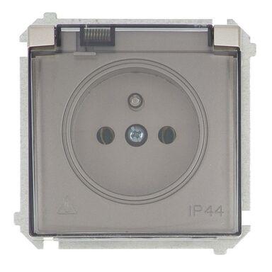 Gniazdo pojedyncze IP44 BASIC  satynowy  SIMON