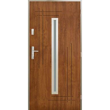 Drzwi zewnętrzne stalowe Ozyrys złoty dąb 90 prawe Pantor