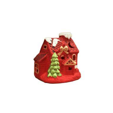 Domek świąteczny 17.5 cm 1 szt. czerwony