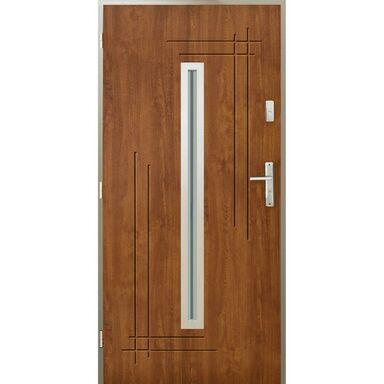 Drzwi zewnętrzne stalowe Ozyrys złoty dąb 90 lewe Pantor