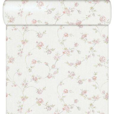 Tapeta w kwiaty RUUSUT różowa winylowa na flizelinie