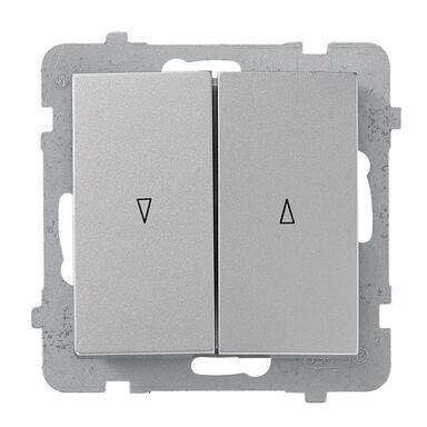 Włącznik żaluzjowy AS srebrny  OSPEL