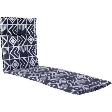 Poduszka na leżak 190 x 63 x 4.5 cm CINO szara