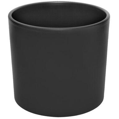 Osłonka ceramiczna 27.8 cm czarna mat WALEC CERAMIK