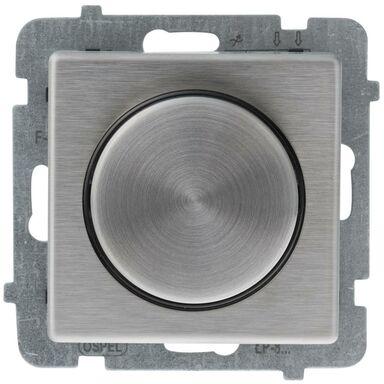 Ściemniacz przyciskowo-obrotowy SONATA Srebrny OSPEL