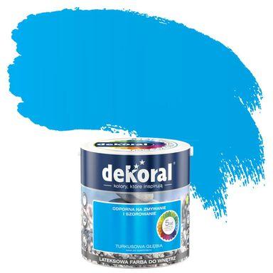Farba wewnętrzna AKRYLIT W 2.5 l Turkusowa Głębia DEKORAL