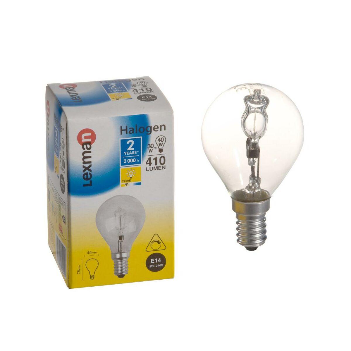 Halogen e14 410 lm halogeny w atrakcyjnej cenie w for Leroy merlin lampadine led e14