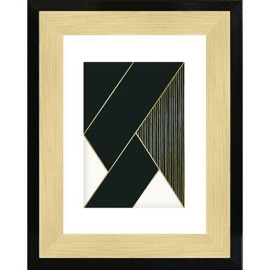 Ramka na zdjęcia FARVET 15 x 21 cm czarno-złota