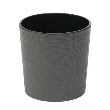 Doniczka plastikowa 19 cm grafitowa MALWA
