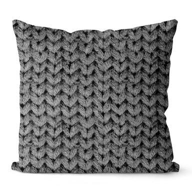 Poduszka Jolie szara 45 x 45 cm imitacja swetra