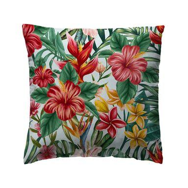 Poduszka w kwiaty Tropicana zielona 40 x 40 cm Inspire