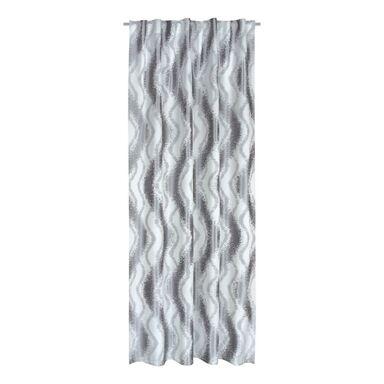 Zasłona Waves szara 170 x 250 cm na taśmie