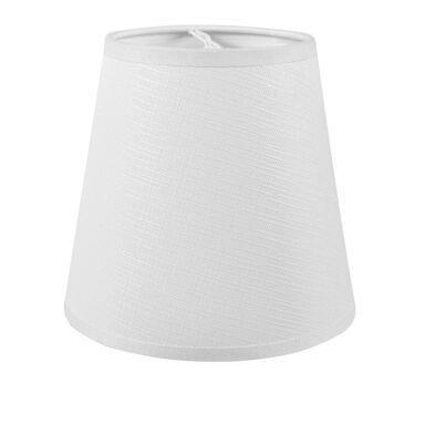 Abażur ZMYWALNY 12 x 11 cm tkanina biały E14