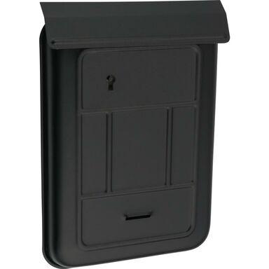 Skrzynka na listy 25.5 x 18 x 3 cm czarna A6 SZ
