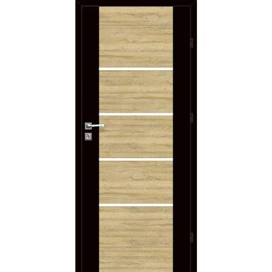 Skrzydło drzwiowe pokojowe Dual Czarny mat/Dąb Bawaria 90 Prawe Voster