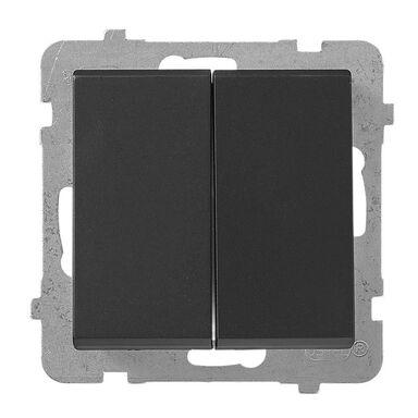 Włącznik schodowy podwójny SONATA Czarny OSPEL