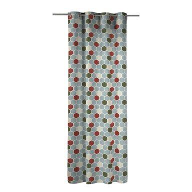 Zasłona SAKSA szara 140 x 270 cm na przelotkach INSPIRE