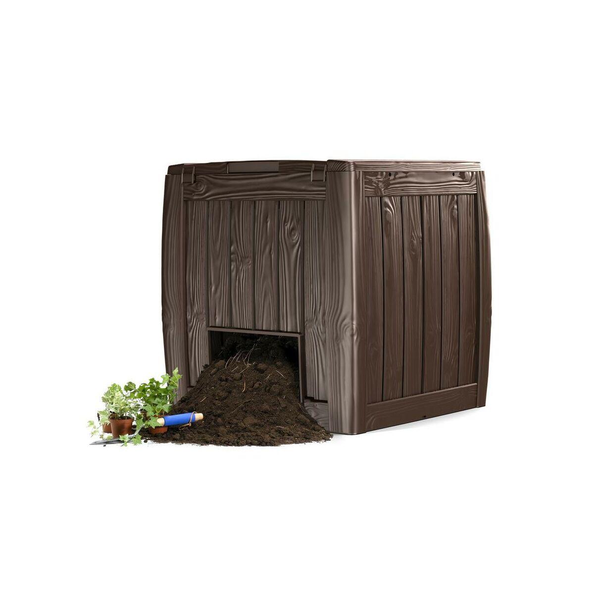 kompostownik deco 340 l keter kompostowniki w atrakcyjnej cenie w sklepach leroy merlin. Black Bedroom Furniture Sets. Home Design Ideas
