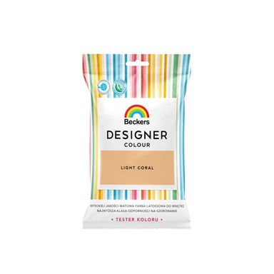 Tester farby DESIGNER COLOUR 50 ml Light coral BECKERS