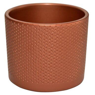 Osłonka ceramiczna 17.4 cm miedziana WALEC