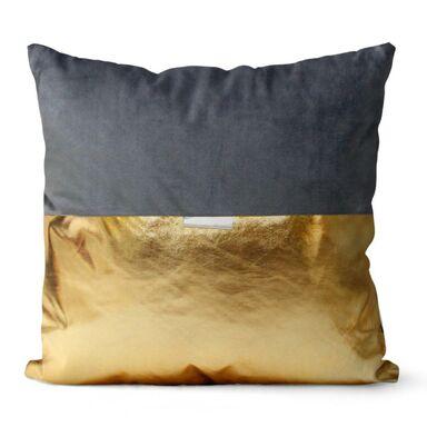 Poduszka GOMEZ szaro-złota 45 x 45 cm