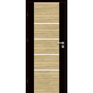 Skrzydło drzwiowe pokojowe Dual Czarny mat/Dąb Bawaria 90 Lewe Voster