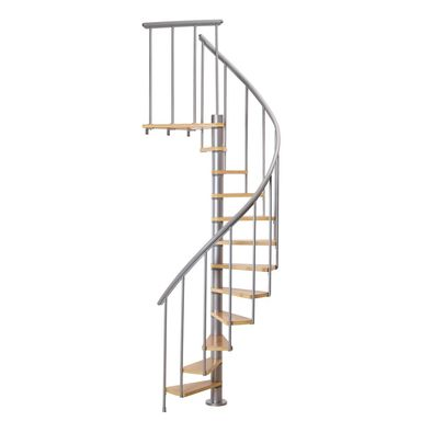 Schody spiralne CALGARY 120 cm Srebrne DOLLE