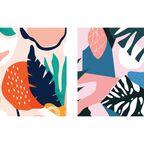 Zestaw 2 plakatów Tropical Abstract 30 x 40 cm