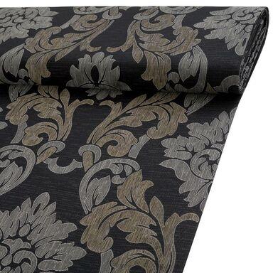 Tkanina na mb TN-FLOWERS czarna żakard szer. 145 cm