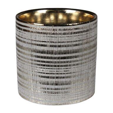 Osłonka doniczki ceramiczna 13.5 cm złota ARNE