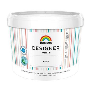 Farba wewnętrzna DESIGNER WHITE 10 l Matowy BECKERS