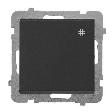 Włącznik krzyżowy SONATA Czarny OSPEL