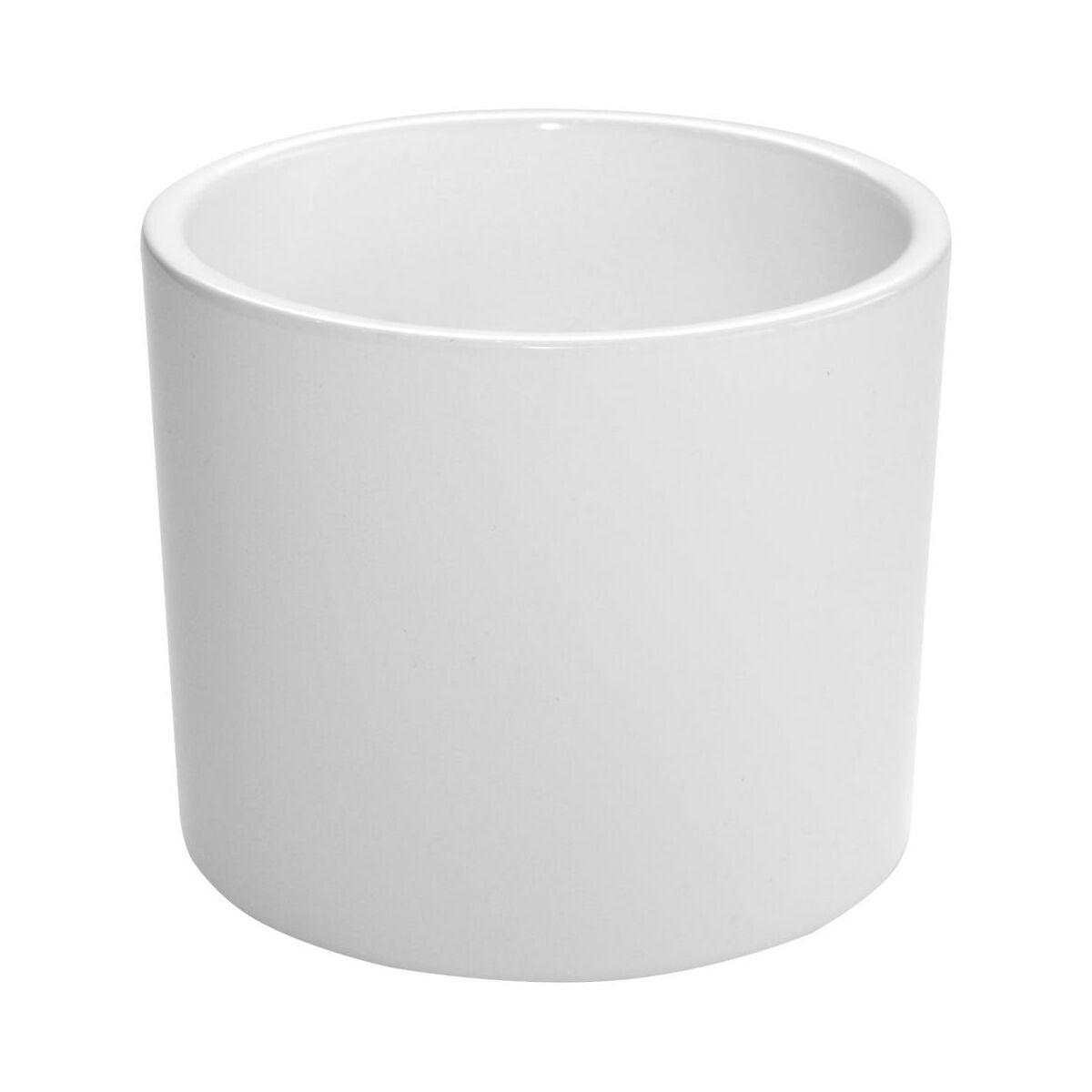Osłonka Ceramiczna 15 Cm Biała Walec Ceramik