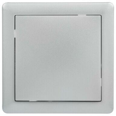 Włącznik pojedynczy schodowy SLIM  srebrny  LEXMAN
