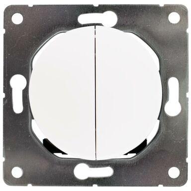 Włącznik podwójny SOUL biały DPM