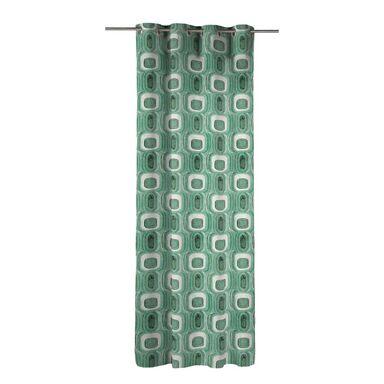 Zasłona JAIKO zielona 140 x 270 cm na przelotkach INSPIRE