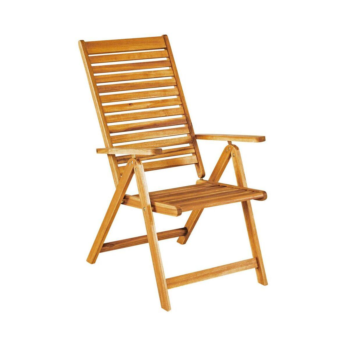 Fotel Ogrodowy Drewniany Porto Naterial 5 Pozycyjny