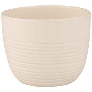 Donica ceramiczna 17 cm kremowa PROWANSJA CERAMIK