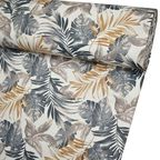 Tkanina na mb LAPAI beżowa w liście szer. 150 cm