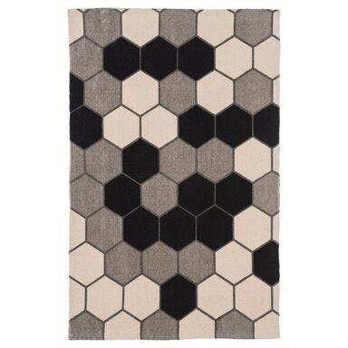 Dywan bawełniany DELIA ciemnoszary 60 x 90 cm INSPIRE