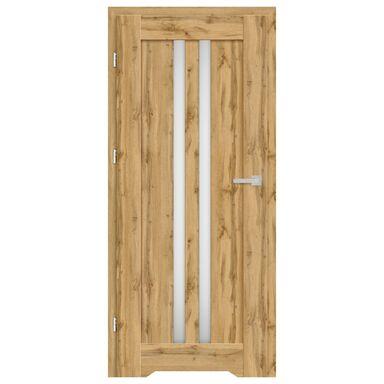 Skrzydło drzwiowe z podcięciem wentylacyjnym CORDOBA Dąb Wotan 90 Lewe NAWADOOR