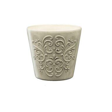 Osłonka ceramiczna 13 cm szara RETRO 1 R2223 EKO-CERAMIKA